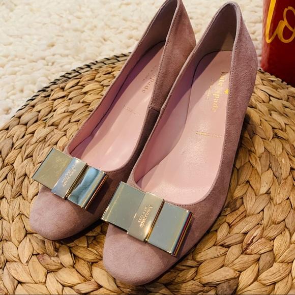 Kate Spade | NY Dijon Bow Suede Block Heel Size 5